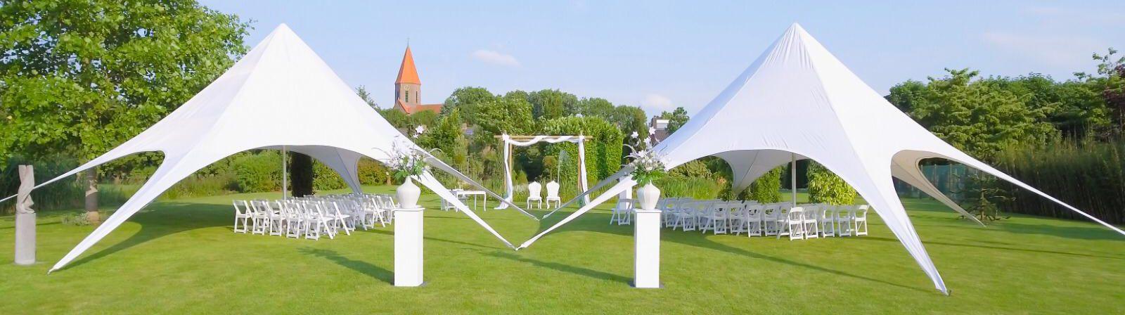 Opstelling ceremonie met tent